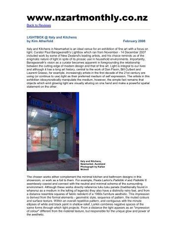 PDF - paul baragwanath & art