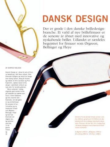 Dansk design brillerer - Opgaver