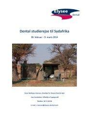 Dental studierejse til Sydafrika - Elysee Dental