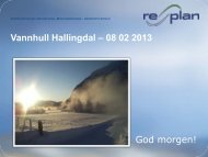 God morgen! Vannhull Hallingdal – 08 02 2013 - Hallingexpo