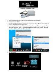 Installasjon av Verbatim 2TB NAS 1. MEDIASHARE kobles til ...