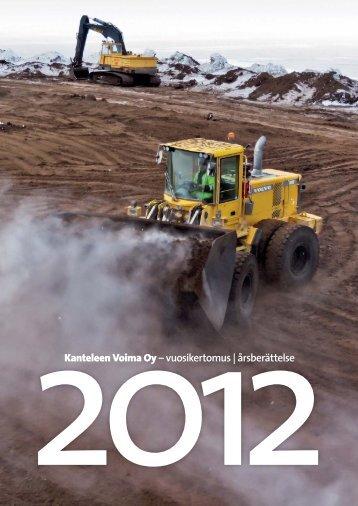 Vuosikertomus 2012 - Kanteleen Voima Oy