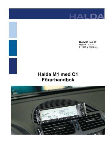 Halda M1 med C1 Förarhandbok