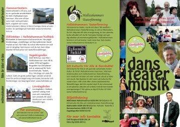 Folder för dans, teater och musik våren 2013 (pdf ... - Hallstahammar