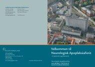 Velkommen til Neurologisk Apopleksiafsnit