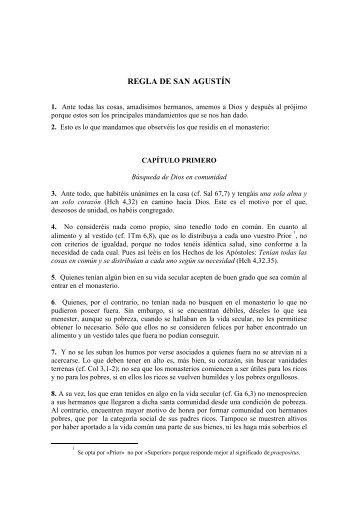 REGLA DE SAN AGUSTÍN - Provincia de España, Orden de San ...