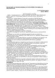 1 Concept akte van statutenwijziging van de Koninklijke Vereniging ...