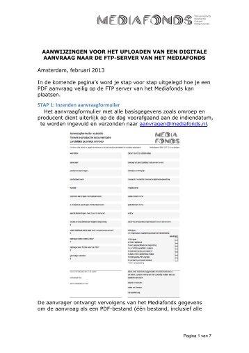 download handleiding digitaal aanvragen Mediafonds