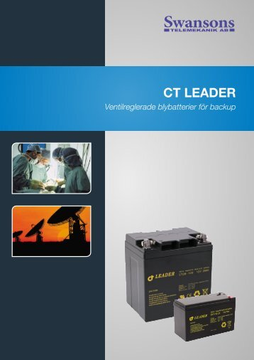 Batteri folder CT Leader - Swansons Telemekanik AB