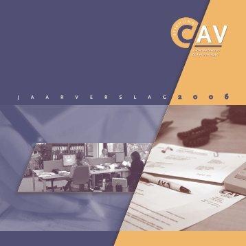 Jaarverslag 2006 - Stichting CAV