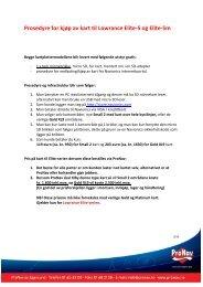 Prosedyre for kjøp av kart til Lowrance Elite-5 og Elite-5m - ProNav