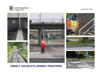 """Länk till rapport """"Enkelt avhjälpta hinder i praktiken"""" - Göteborg"""