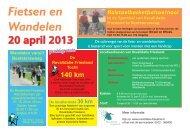 Fietsen en Wandelen De locatieronde 30 km - Revalidatie Friesland