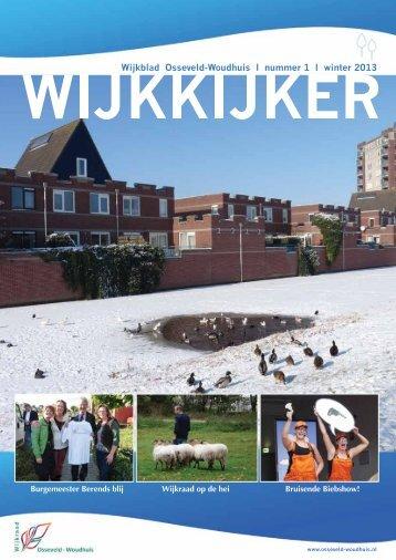 Wijkkijker nr 1. Winter 2013 - Wijkraad Osseveld-Woudhuis