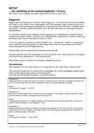NOTAT …om udvikling af en evalueringskultur i U-turn.