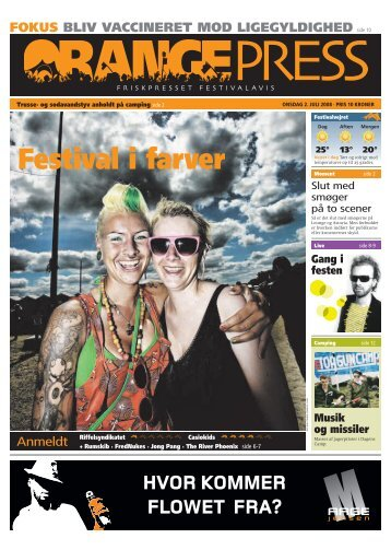 Orange Press - Onsdag 2. juli - Roskilde Festival