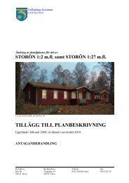 Detaljplan för Storön - Gullspångs kommun