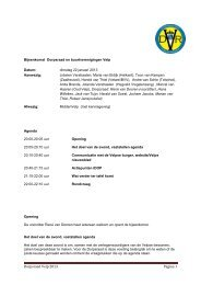Januari 2013 Overleg Buurtverenigingen - Dorpsraad Velp