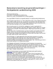 Bestyrelsens beretning på generalforsamlingen i Nordsjællands ...