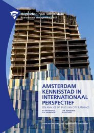 aMStErdaM KEnniSStad in intErnationaal pErSpECtiEf - Centre for ...