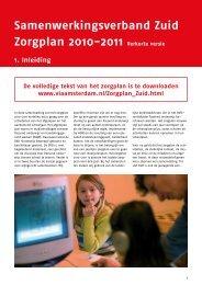 Samenwerkingsverband Zuid Zorgplan 2010-2011 ... - VIA Amsterdam