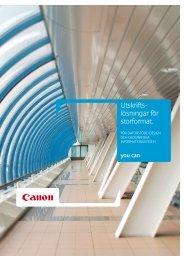 Storformat utskriftslösningar CAD och GIS [PDF, 2 MB] - Canon