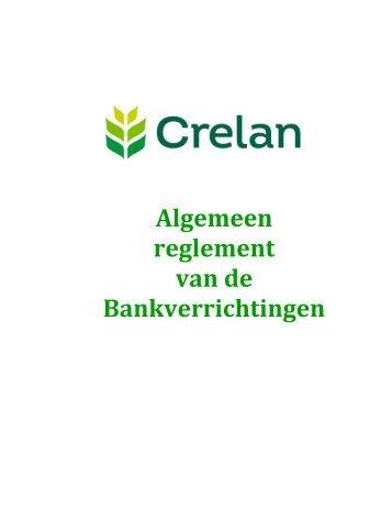 Algemeen reglement van de Bankverrichtingen - Crelan