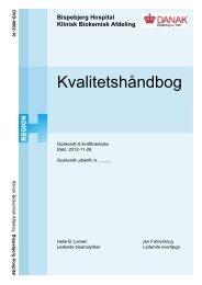 Kvalitetshåndbog - Bispebjerg Hospital