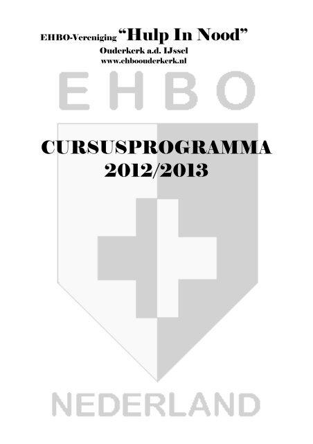 Boekje 2012 2013 Versiemartin Ehbo Vereniging Hulp In Nood
