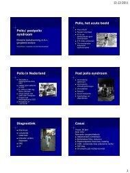 Polio/ postpolio syndroom Polio, het acute beeld Polio in ... - SMALLL