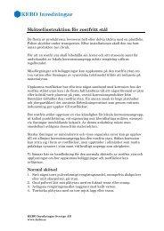 Skötsel av rostfritt stål - KEBO Inredningar