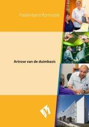 Folder Artrose van de duimbasis - Martini ziekenhuis