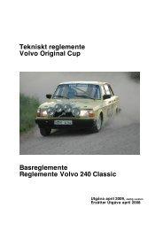 Tekniskt reglemente Volvo Original Cup Basreglemente ...