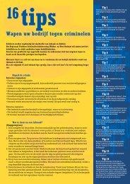 Flyer met tips om uw bedrijf te wapenen tegen criminelen