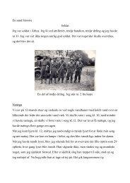 En sand historie Soldat Jeg var soldat i Århus ... - Ellen & Erik Bach