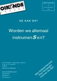 Worden we allemaal instrumensen? - BWR Brusselse Welzijns- en ...
