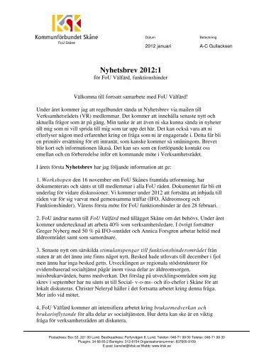 Microsoft Word - Nyhetsbrev 2012 1.pdf - Kommunförbundet Skåne