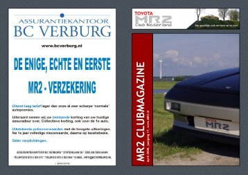 MR2 CLUBMAGAZINE April 2008 - Toyota MR2 Club Nederland