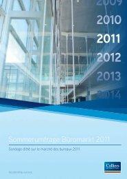 Sommerumfrage Büromarkt 2011 - Colliers.ch