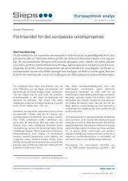 Förtroendet för det europeiska unionsprojektet (2013:9epa) - Sieps