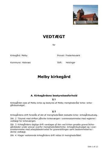 VEDTÆGT - Melby Kirke