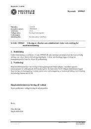 S-sak 1999/63 Utlysing av vikariat som administrativ leder for ...
