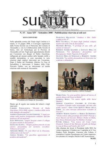 Anno XIV – Settembre 2008 – Pubblicazione riservata ai soli soci