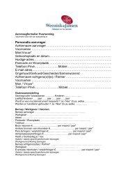 Aanvraagformulier Huurwoning - Weenink & Jansen