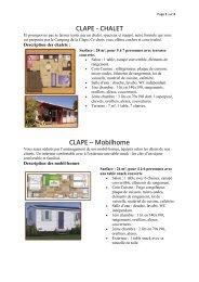 CLAPE - CHALET CLAPE – Mobilhome - Reservation.capdagde.com