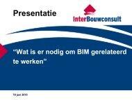 Klik hier voor de presentatie - Het Nationaal BIM Platform