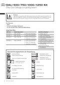 DALI 500 / 750 / 1000 / 1250 Kit - Bienvenue sur le site Fresenius ... - Page 2
