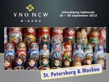 Uitnodiging Ledenreis Rusland 2013 - VNO-NCW Midden