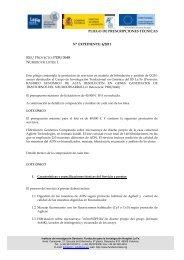 Pliego de Prescripciones Técnicas - IIS La Fe