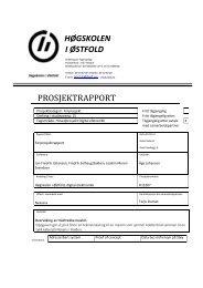 Forprosjektrapport - Høgskolen i Østfold